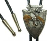 End of the Trail Spearhead Bolo Tie. Code BT4